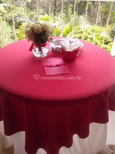 Decoração de mesa dos convidados