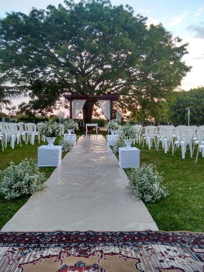 Jardim para cerimonias