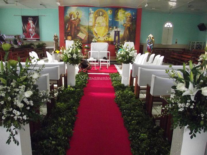 Cerimônia em Igreja de Ediarte Decorações