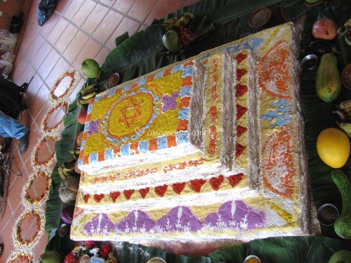 Cerimônia hindu hare krishna