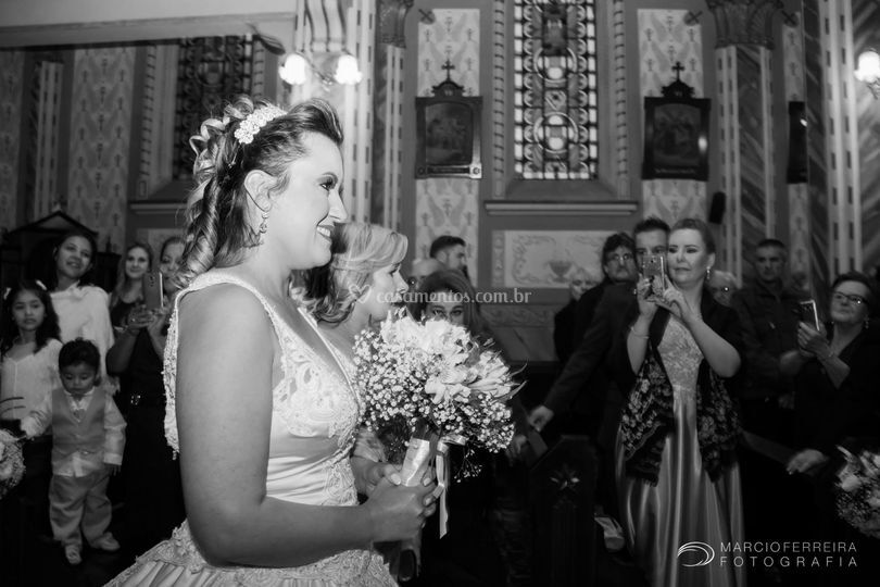 Noiva e sua mãe.