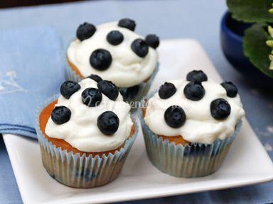 Cupcake de blueberry
