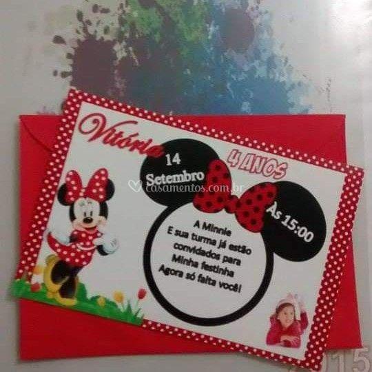 Convite em papel fotofrafico