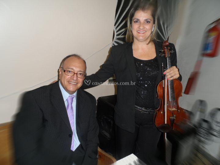 Teclado e violino