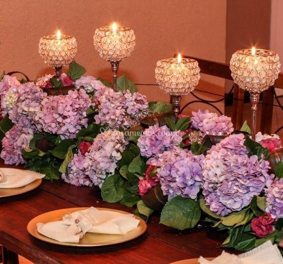 Hortencias para mesa familia