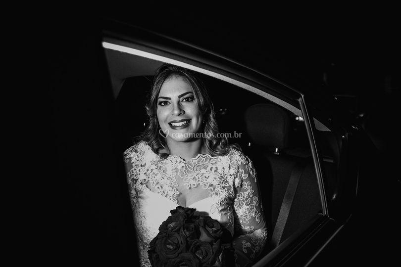 A noiva no carro