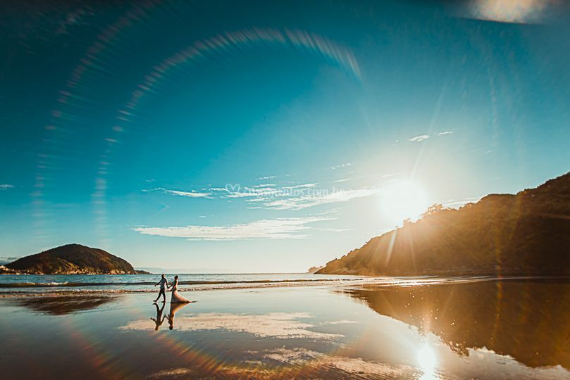 Foto louca na praia