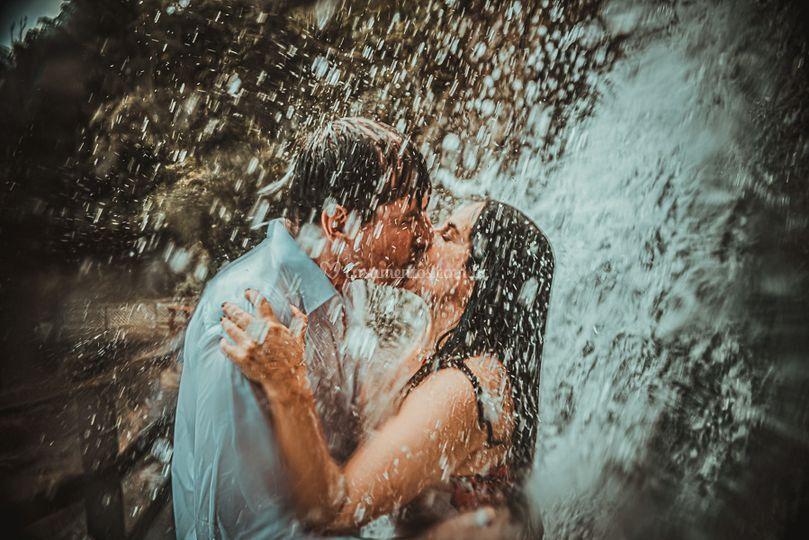 Fotos na cachoeira