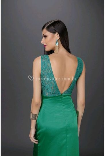 Vestidos de festa Verde