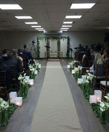 Decoração da cerimônia
