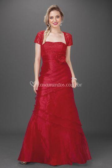 Vestidos de festa Vermelho