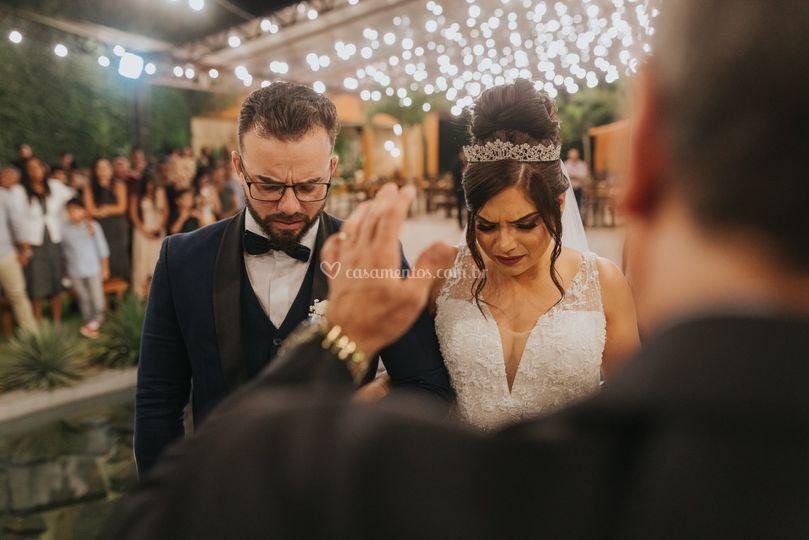 Benção sobre os noivos