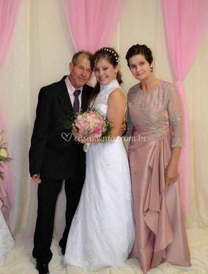 A noiva e os pais dela