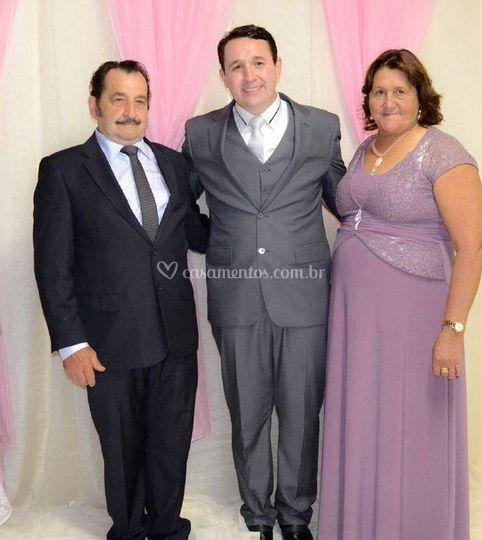 O noivo e seus pais