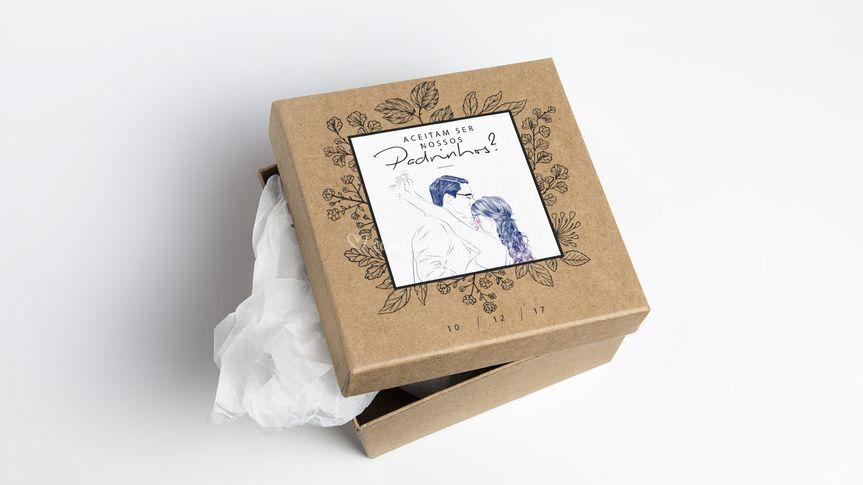 Ilustração em caixa