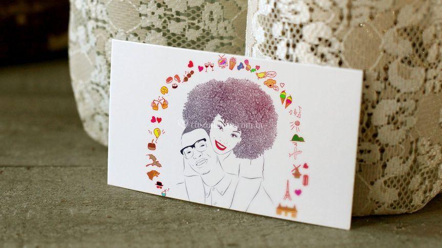 Ilustração em convite