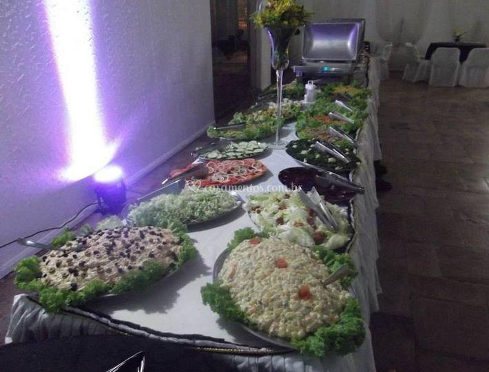 Variedade de pratos
