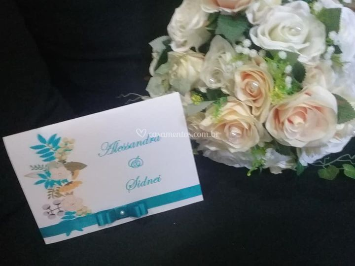 Floral azul com Chanel