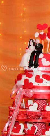 Bolo com cupcakes