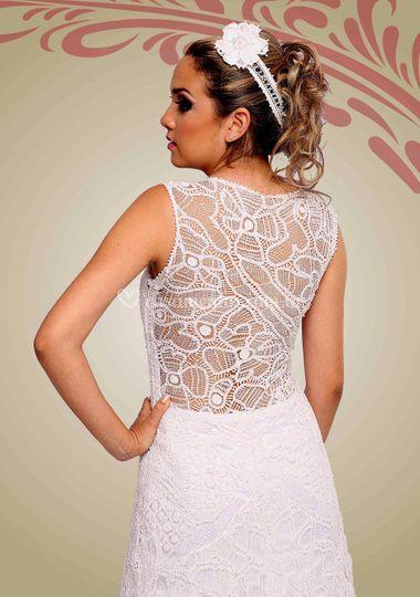 As costas do vestido de renais