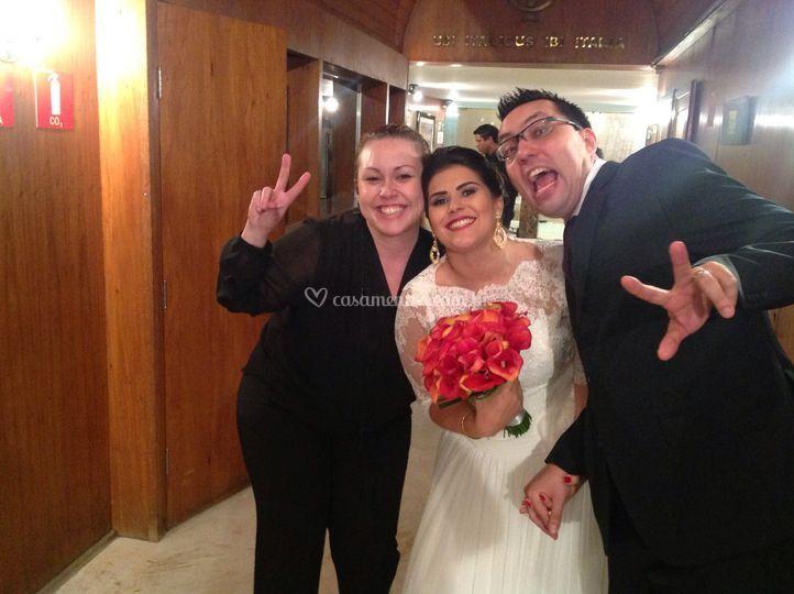 Com os noivos