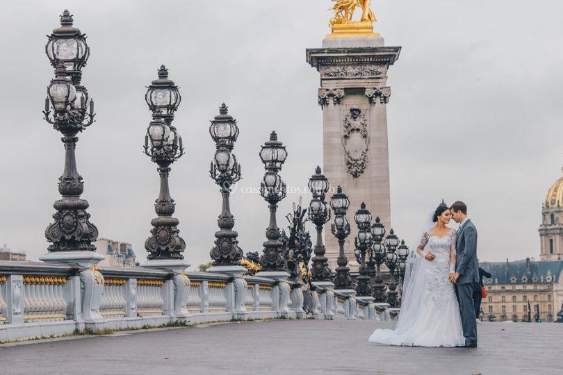 Ensaio do casal em paris