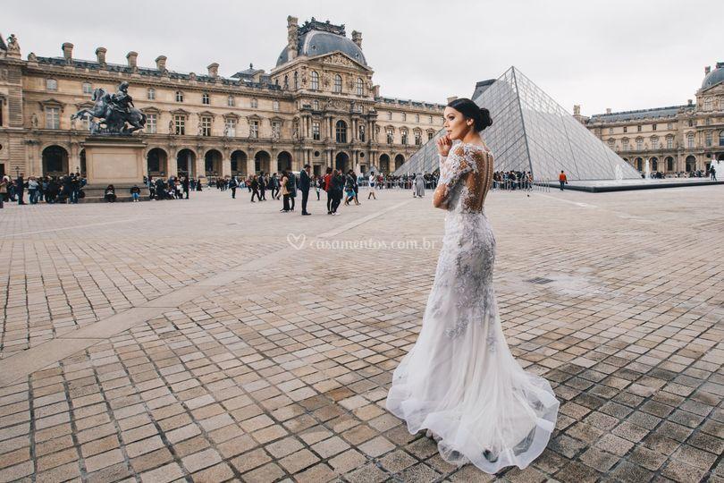 Noiva no louvre
