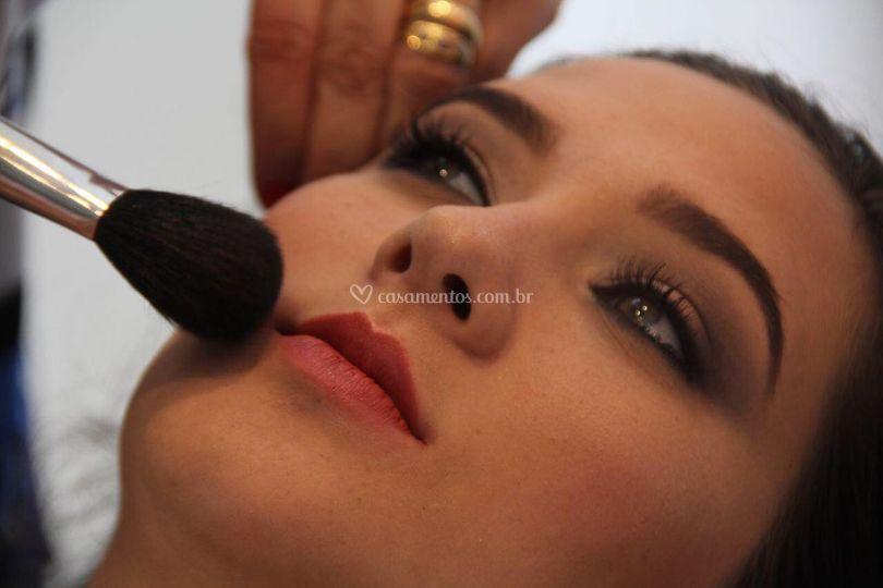 Preparação de maquiagem