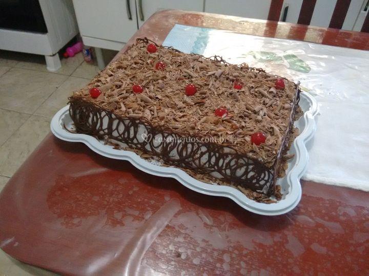 Chocolate, bolo de corte