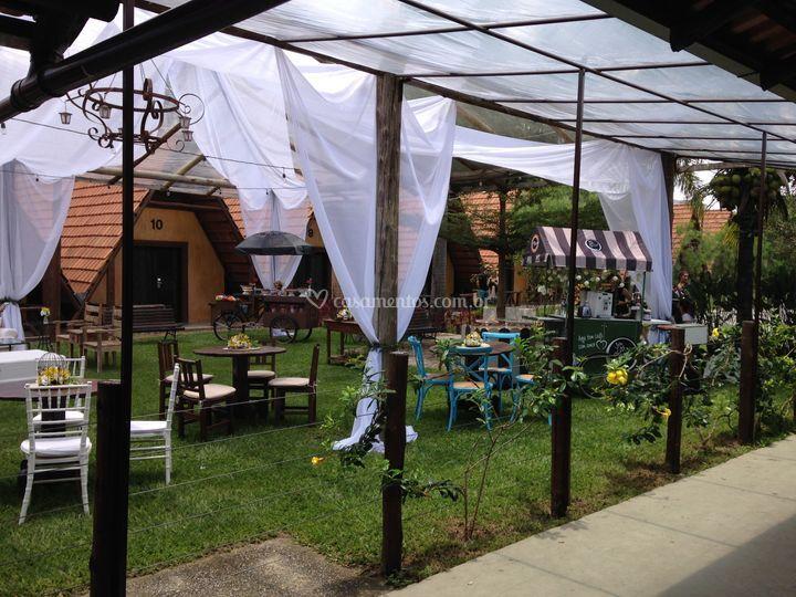 Decoração com tenda