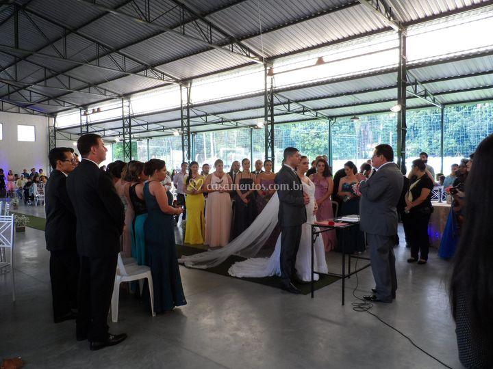 Cerimônia no Salão