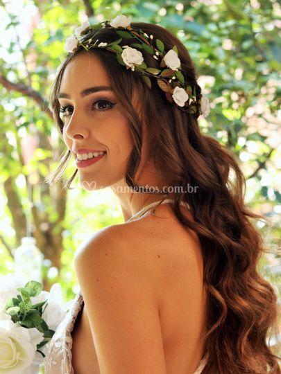 Tiara de Flores Dupla Beleza P