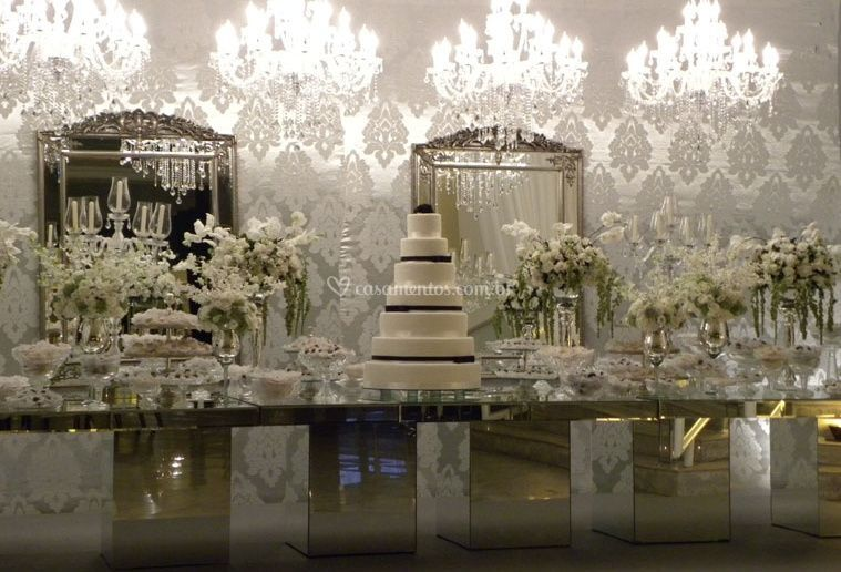 A mesa do bolo