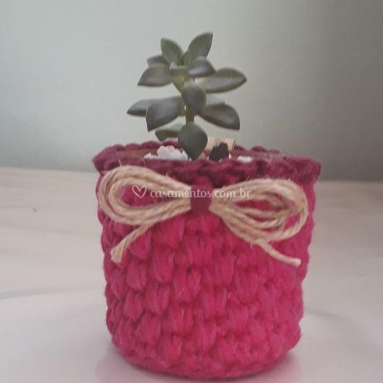 Cachepo de crochet P