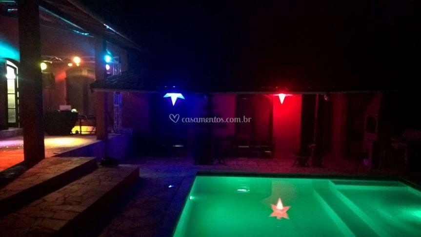 Piscina com LED Colorido
