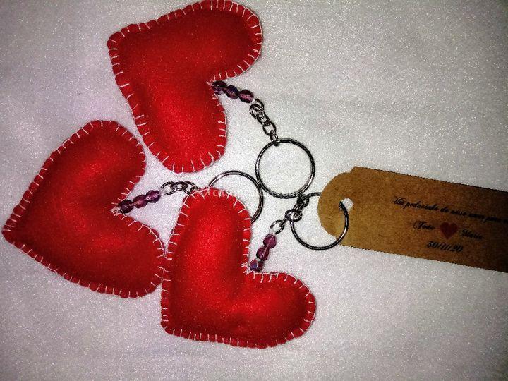 Chaveiro Coração em Feltro