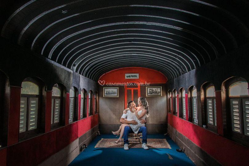Casal vagão de trem