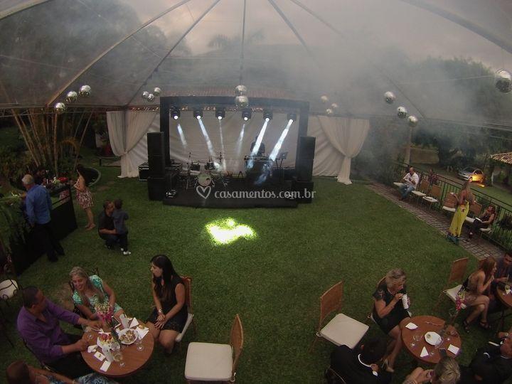 Eventos sob tenda