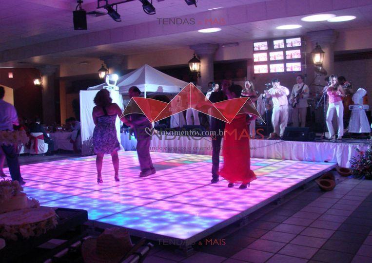 Pista de dança iluminada