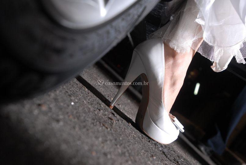 Carros para chegada da noiva