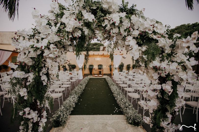 Casamento na área externa