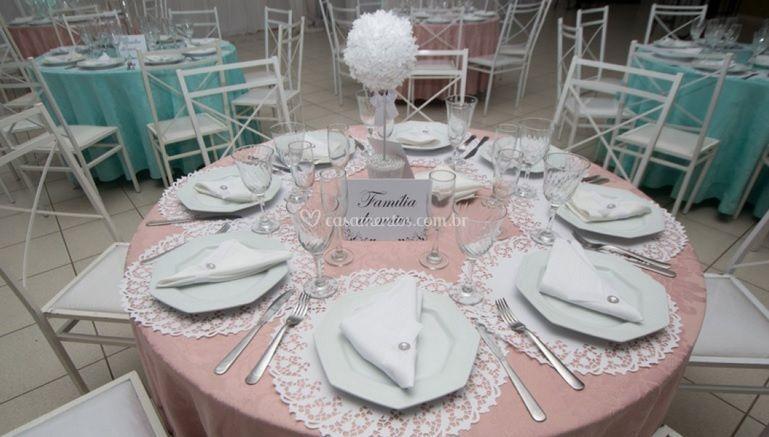 Detalhe mesa de convidados