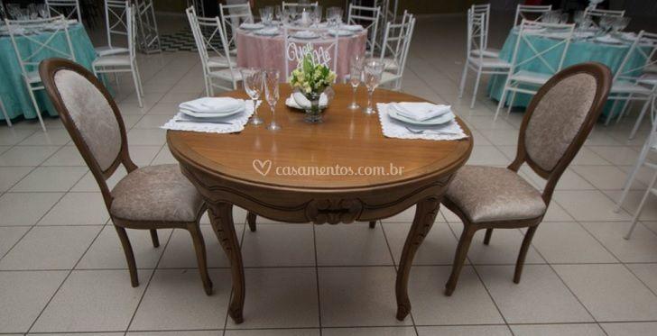 Detalhe mesa dos noivos