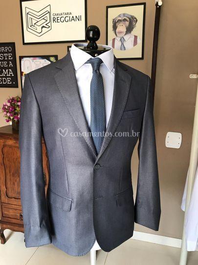 Costume cinza slim