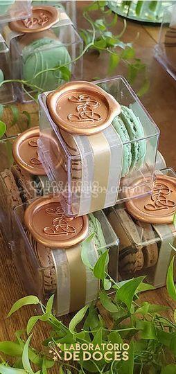 Macarons em Caixa de Acrílico