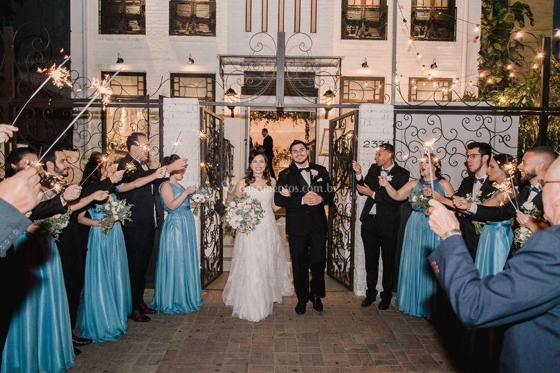Nossos noivos na fachada
