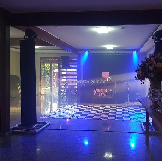 Salão climatizado para bailes