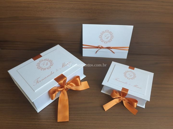 Kit caixa e convite