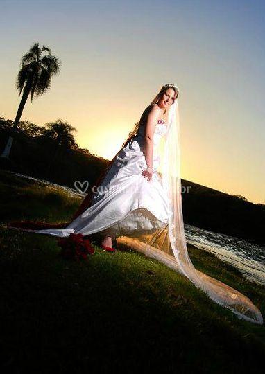 A noiva pôr do sol