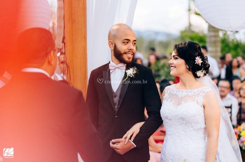 A alegria dos nossos noivinhos